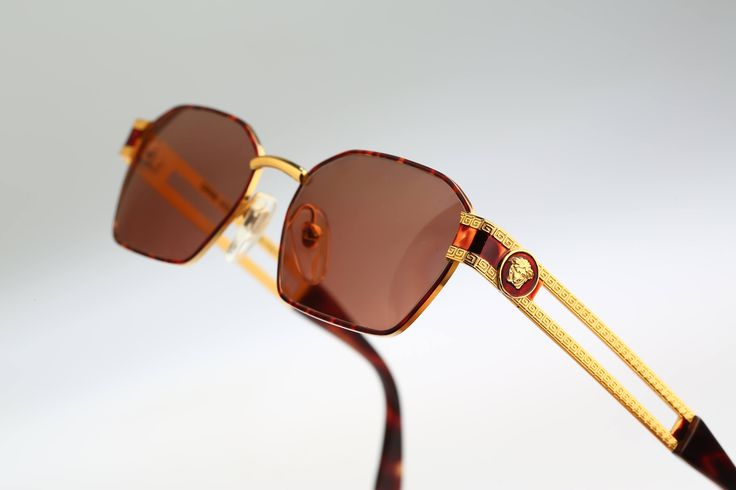 Gianni Versace Mod S 69 Col 55 M / Vintage sunglasses / NOS / 90s and all time being luxury! by CarettaVintage on Etsy