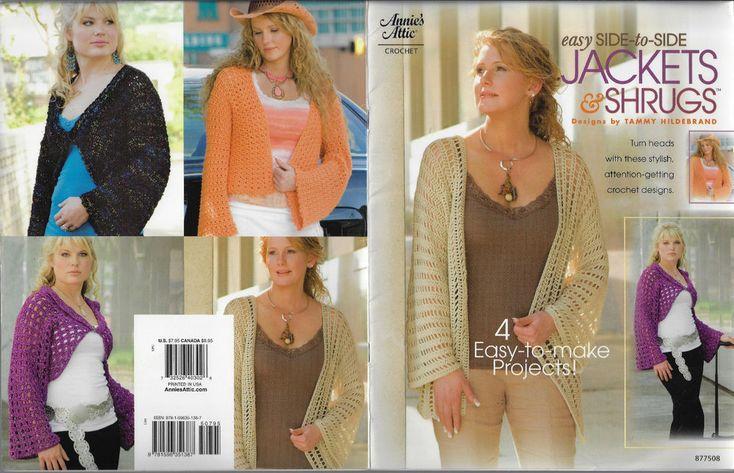 Women's Jackets & Shrugs Annie's Attic 877508 crochet pattern 4 projects #AnniesAttic