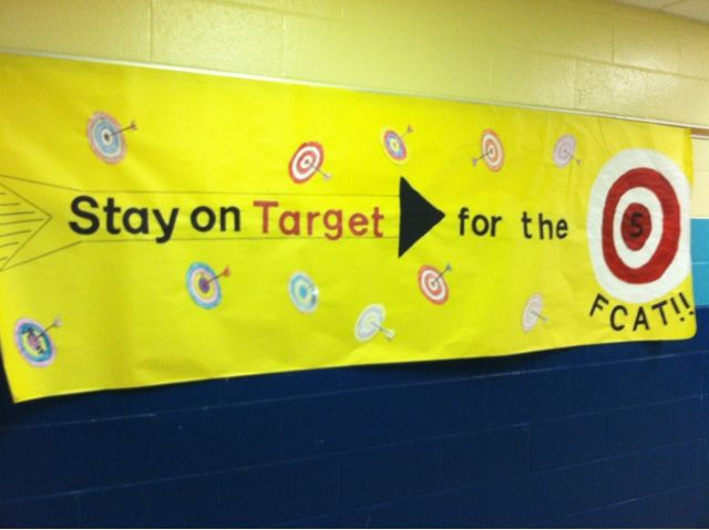 This week is state testing for the and grade students. Each year, grades K makes banners to hang up in the hallway.