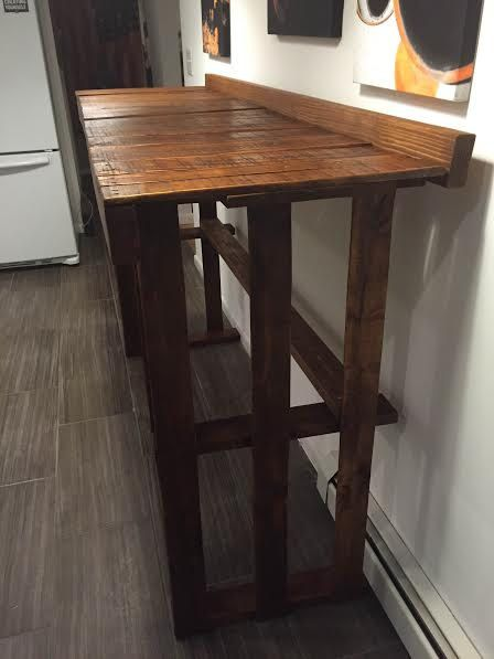 High Top Pallet Bar Table Rustic By Industrialfunctional