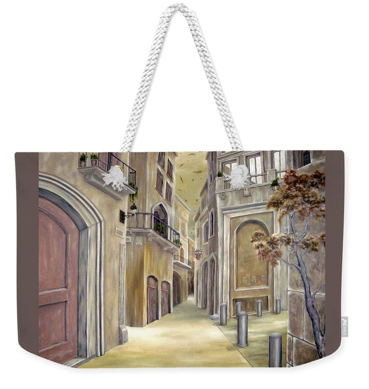 Weekender Tote Bag, brown,cool,beautiful,fancy,unique,trendy,artistic,awesome,fahionable,unusual,accessories,for,sale,design,items,products,gifts,presents,ideas,town,old,buildings