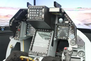 The cockpit of the next-generation F-16V Fighting Falcon. (Photo courtesy of Lockheed-Martin)