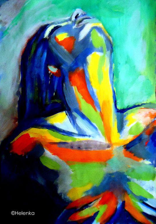 """Saatchi Online Artist: Helena Wierzbicki; Acrylic, 2013, Painting """"""""Soulful"""""""""""
