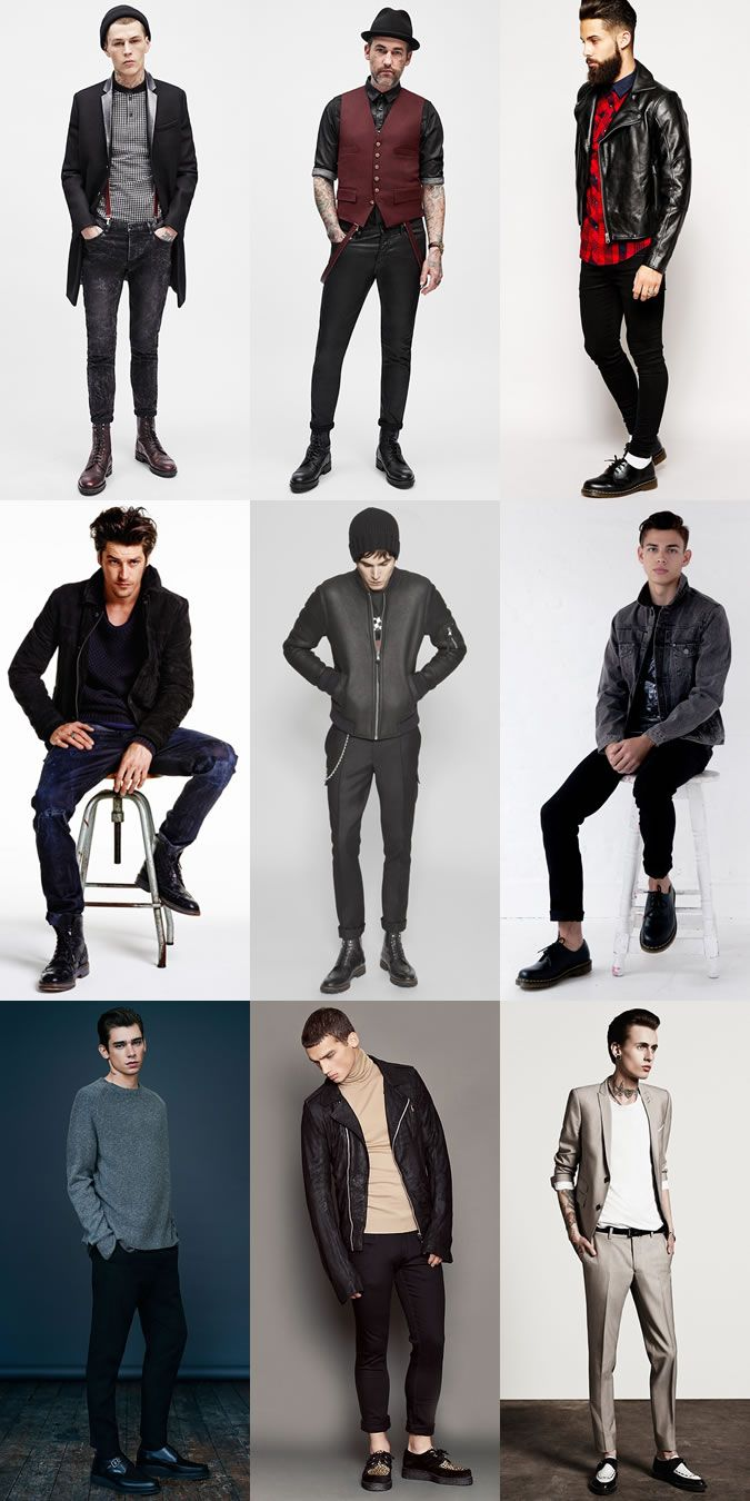 Men's 2014 Autumn/Winter Fashion Trend: Rockabilly Style with the right footwear Lookbook Inspiration