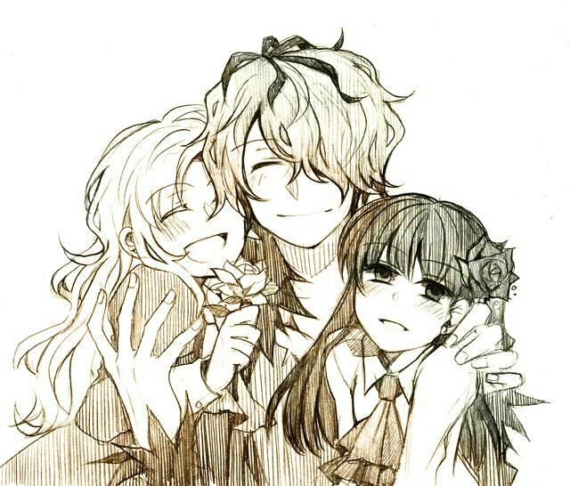 Mary, Garry, and Ib