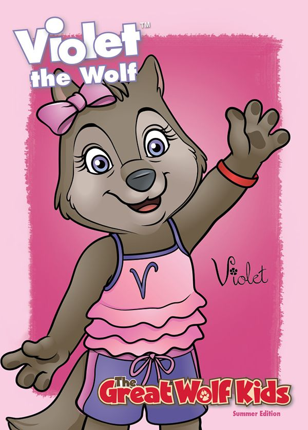 Violet And The Rest Of Great Wolf Kids Trading Cards Are Ready