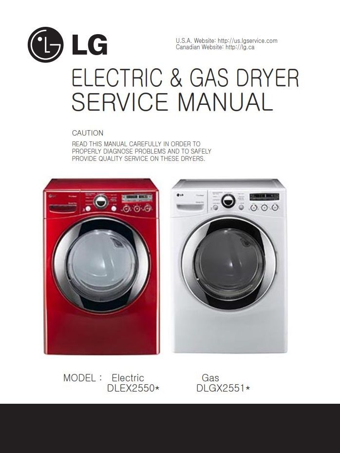Lg Dlgx2651r Dlgx2651w Dryer Service Manual Repair Guide Appliance Repair Repair Guide Manual