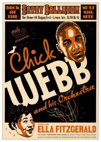 チック・ウェッブ&エラ・フィッツジェラルド - サボイ・ボールルーム, NYC 1935 アートプリント