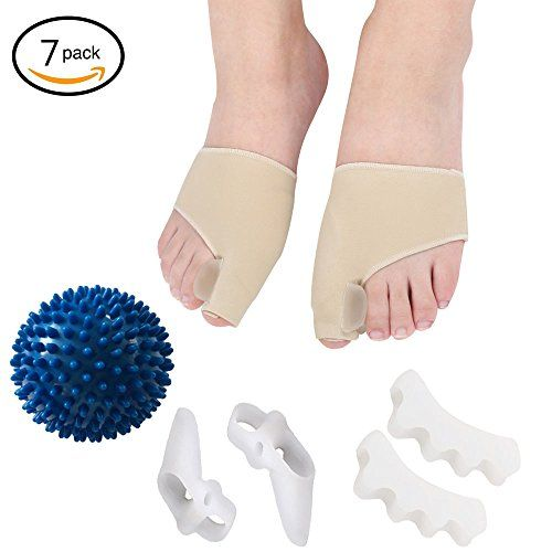 Youwen 6 Pcs Toe Separators Spacers Straighteners Splint Aid Surgery Treatment with 1 Yoga Massage Ball ball:   FUNCTIONS/bbr Regulate bunion pain, hallux valgus, bunionette pain, bunion pain treatment, toe stretcher. deter or eliminate bunion surgery.brbr NURSING METHODS/bbr Cushion soft yet gives needed support. easy to apply and comfortable. clean with soap and water.brbr NOTES/bbr Please do not wear for a prolonged time and allow toes to breathe. If wearing the Barefoot Pad while s...