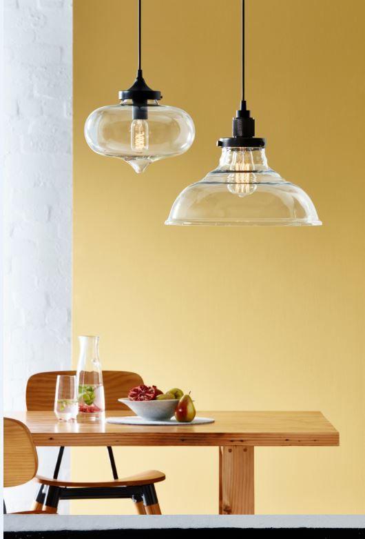 Clear Glass Pendant Light Shade #bunnings #retro