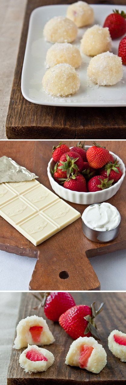 Three ingredient Greek Yogurt Truffles! @dessertfortwo