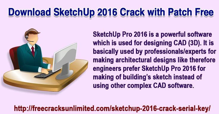 SketchUp 2016 works on all Windows formats e.g. Windows 7, 8, Vista, Xp( 32 and 64 bits). You can save your files in any format you like JPG,DWG,PDF,TIF,3DS,PNG etc. To enjoy all these features free, you just need to download SketchUp 2016 Crack.