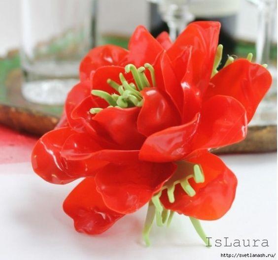 Как сделать цветок из пластиковых ложек и forksflower-13: