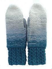 Lovely dip dye mittens | knitted mittens | knitting pattern | dip dye | strikkede votter | vanter