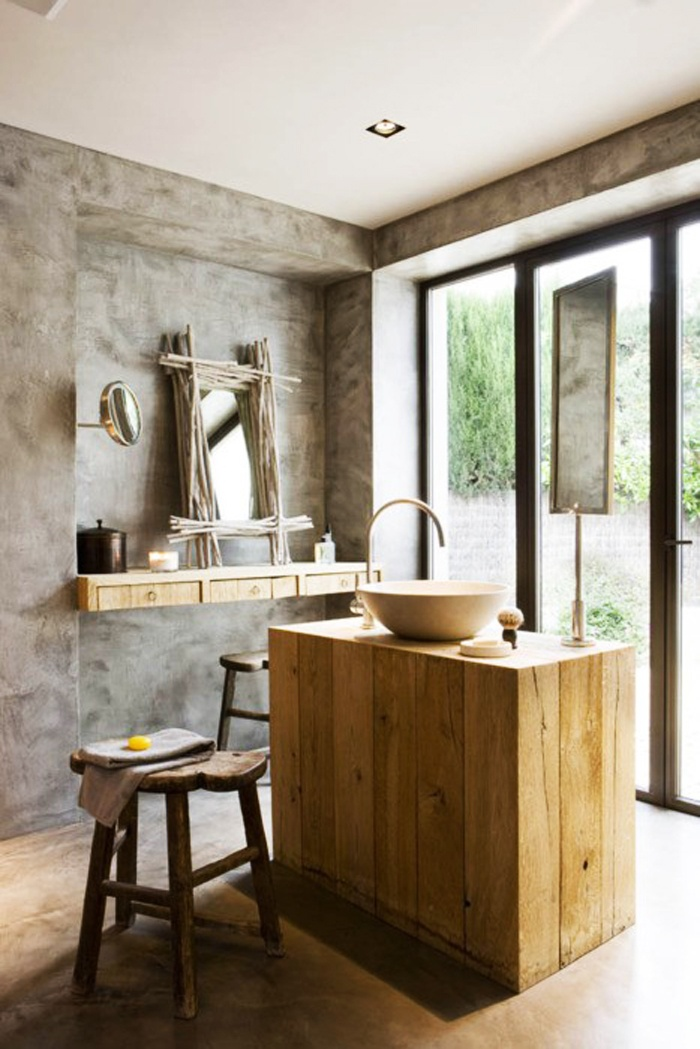 modern mixed with rustic