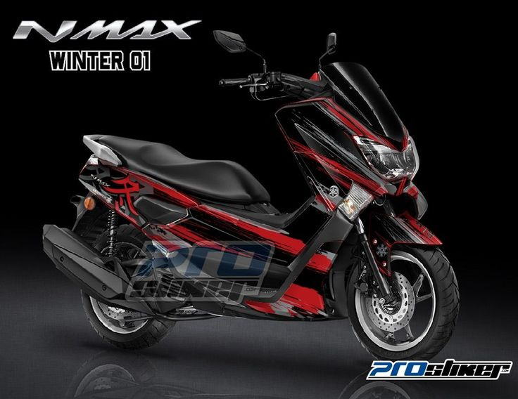 Stiker motor yamaha nmax warna merah desain racing moto2 winter 01 prostiker full body