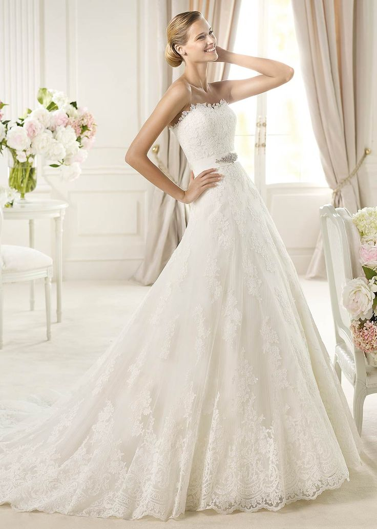 Uceda by Pronovias available at Teokath of London
