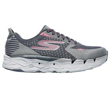 Skechers Women's GOrun Ultra Road 2 Running Shoes (Charcoaol/Pink)
