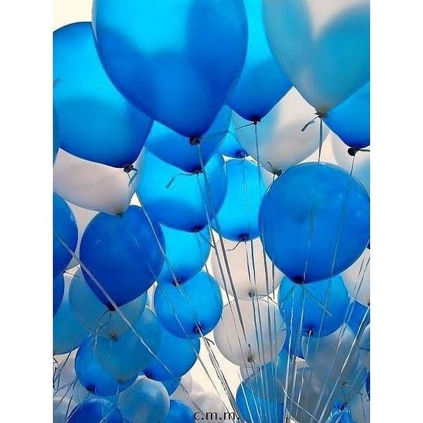 Colors / blue balloons via Polyvore