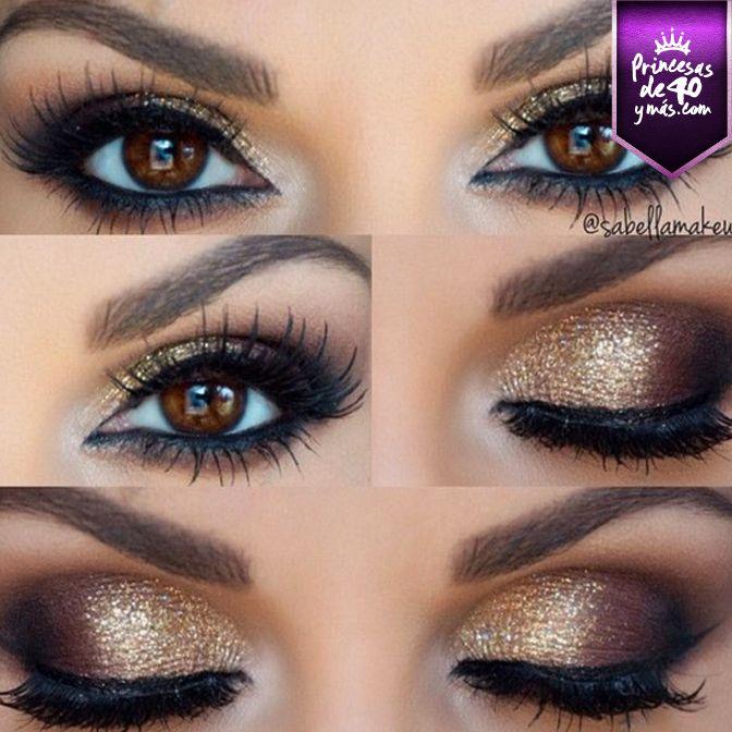 Un maquillaje perfecto para las princesas de ojos cafés.