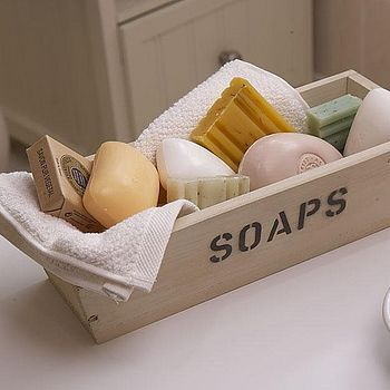 Collect bars of soap from hotels and fill a basket with them for the guest bath, great idea! Saves money, too.