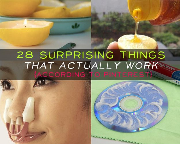 28 Surprising Things That Really Work, According To Pinterest....idk what that thing