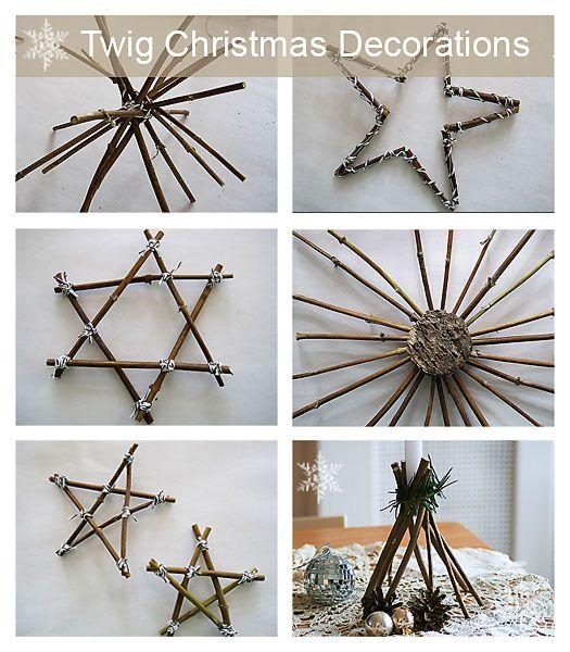 hvězdy z klacíků