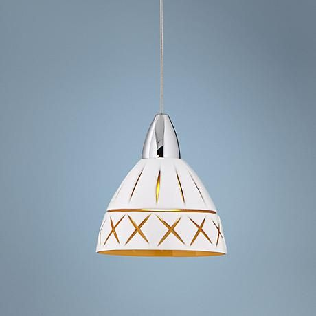 Charming And Energy Efficient This Mini Pendant Light Features A White Gl Shade With Inner