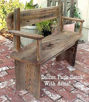 PARK BENCH DeLUXE Great Price Special by OLDGLORYWOODCRAFTS