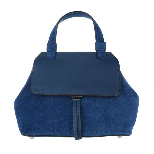 Abro Shoulder Bag - Kaleido Velvet Tophandle Tote Royal - in blue -... ($250) ❤ liked on Polyvore featuring bags, handbags, blue, hand bags, handbag purse, shoulder handbags, shoulder hand bags and tote handbags