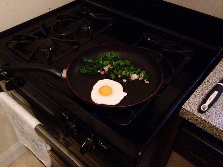 Fried Eggs with Kale and Sautéed Onions | food | Pinterest | Fried ...