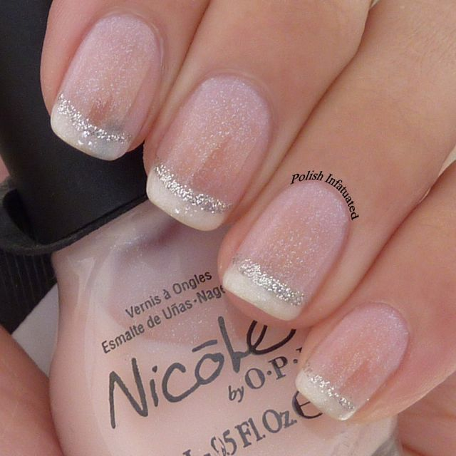 The French Mani #nails This is not a tutorial, but repinning for nail inspiration should I ever quit biting my nails long enough to paint them