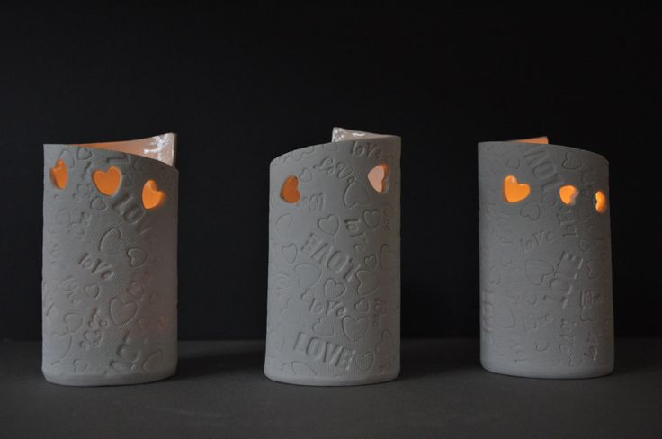 More hearts, this time in porcelain votive tealights