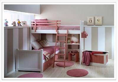 Dormitorios juveniles| Habitaciones infantiles y mueble juvenil Madrid: Camas dobles y triples para dormitorios juveniles e infantiles