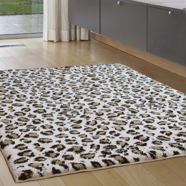 Snow leopard rug from Target