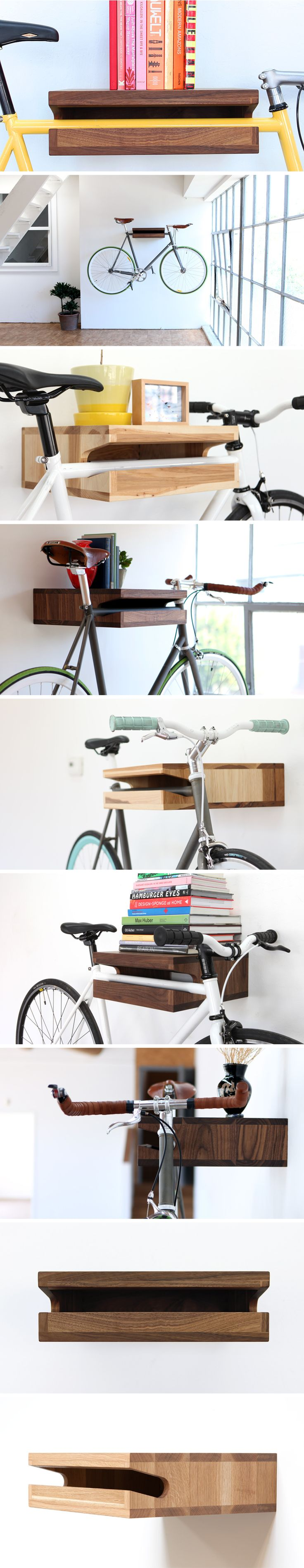 Look jeremy s bicycle rack apartment therapy - Knife Saw Home Of The Bike Shelf Other Wooden Objects Unique