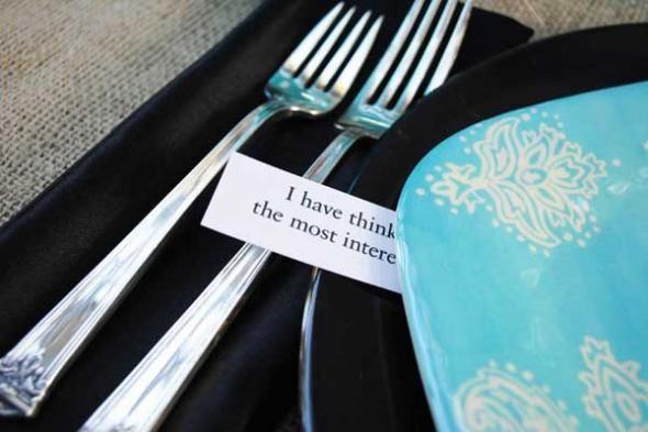 Secret Message Dinner Party Game