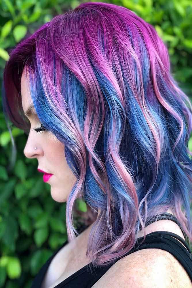 60 Fabulous Purple And Blue Hair Styles Hair Looks Cool Hair