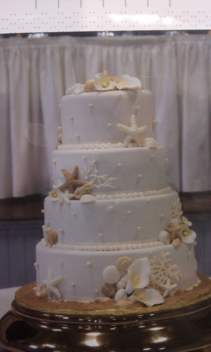 Best seashell wedding cake design I've seen. Love it  ... Uploaded with Pinterest Android app. Get it here: http://bit.ly/w38r4m