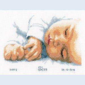 """""""Newborn"""": borduurpakket met telpatroon"""