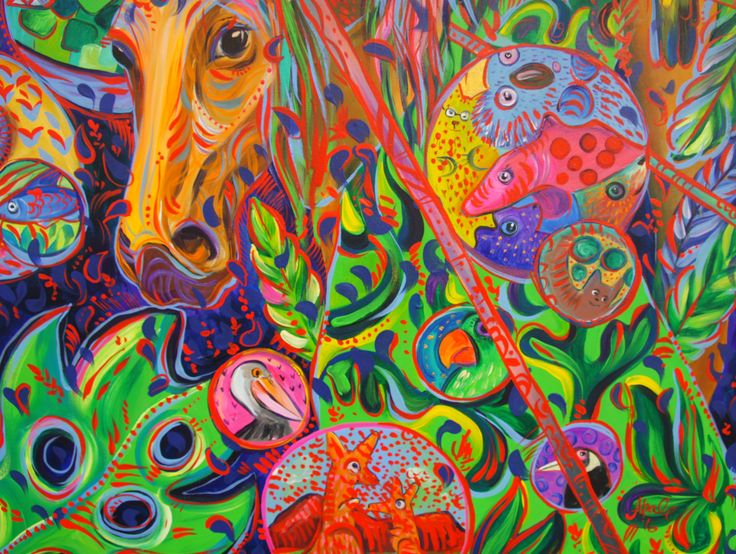 Katerina Apale facebook.com/katerina.apale.art/ #katerinaapale #apaleart #unicorn #interiordesign #horse #bright