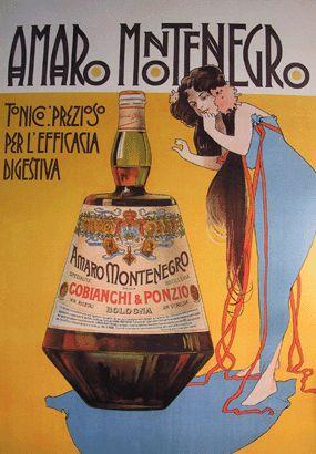 Anno: 1900 Soggetto: Amaro Montenegro- Tonico prezioso- Cobianchi e Ponzio. Bologna Pubblicazioni: Stampa Stab. Chappuis, Bologna.