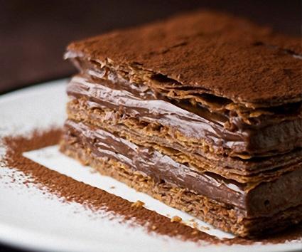 Milhojas de chocolate, ¡con mousse! - Recetín