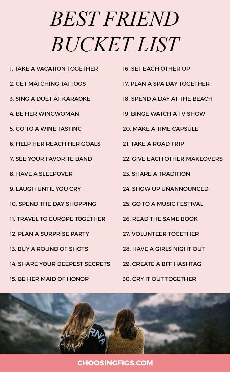 Bester Freund Bucket List: 30 Dinge, die Sie mit I…
