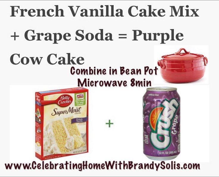 To ingredient cake mix. Purple Cow Cake celebrating home Beanpot cake mix. Shop WWW.CelebratingHomewith BrandySolis.com
