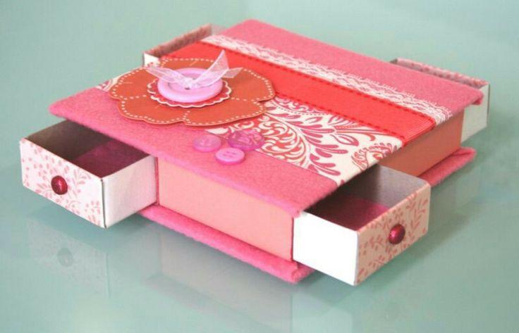 Reciclar cajas de fosforos creative ideas pinterest - Cajas de carton decoradas ...