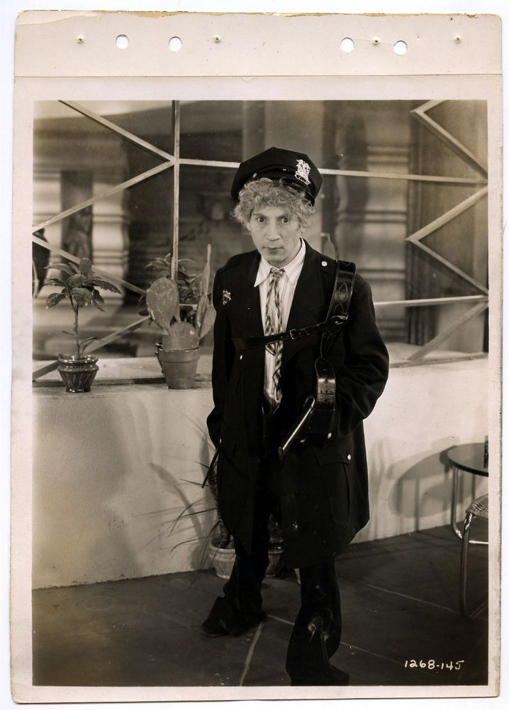 HARPO MARX RARE ORIGINAL VINTAGE 1930 KEY BOOK DBLWT PHOTOGRAPH ANIMAL CRACKERS #Photo