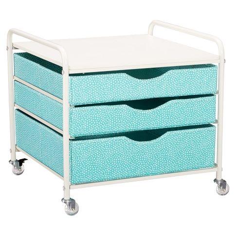 dorm fridge cart. pb teen.