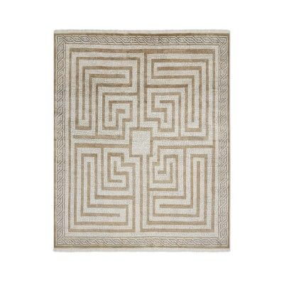 Luke Irwin, Taormina Gate Mosaic Hand Knotted Rug, 9x12', Drizzle