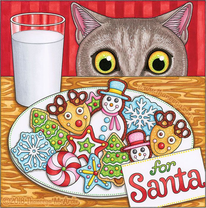 Cookies For Santa Coloring Page From Thaneeya Mcardle S Holiday
